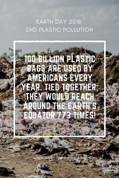 earth day 2018 scary plastic statistic: 100 BILLION plastic bags are used by Americans every year. Tied together, they would reach around the Earth's equator 773 times! Water Pollution, Plastic Pollution, Pollution Information, Eco Friendly Water Bottles, Save Mother Earth, Save Our Oceans, Environmental Pollution, Love The Earth, Solid Shampoo