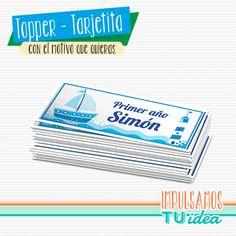 Cumple marinero - Sticker fiesta marinero para imprimir