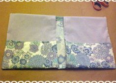 homemade removable fabric three-ring binder cover - tutorial - before and after