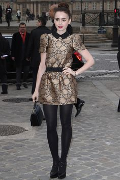 Metallic Collared Gold and Black Dress