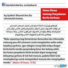 Follow @NasihatSahabatCom http://nasihatsahabat.com #nasihatsahabat #mutiarasunnah #motivasiIslami #petuahulama #hadist #hadits #nasihatulama #fatwaulama #akhlak #akhlaq #sunnah  #aqidah #akidah #salafiyah #Muslimah #adabIslami #DakwahSalaf # #ManhajSalaf #Alhaq #Kajiansalaf  #dakwahsunnah #Islam #ahlussunnah  #sunnah #tauhid #dakwahtauhid #alquran #kajiansunnah #gerhanabulan #gerhanamatahari #sholat #salat #shalat #solat #Khusuf #Kusuf #hukum #tatacara #penyebaranberita #fatwaulama