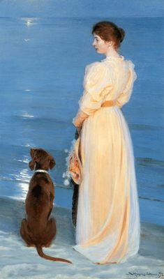 Portrait of Marie Kroyer by P.S. Kroyer, Skagen, 1892