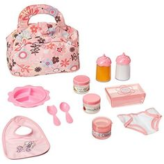 Amazon.com: Melissa & Doug Mine to Love Time to Eat Doll Accessories Feeding Set (8 pcs): Melissa & Doug: Toys & Games