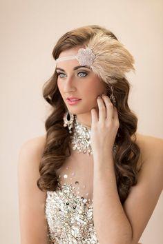 Roaring 20's Headbands Great Gatsby Bridal by AdorningBeautyCo