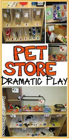 Pet Store in the Dramatic Play Center tips, tricks, and ideas to embed literacy and math into their play. Pocket of Preschool