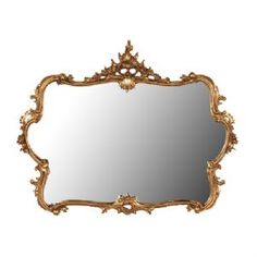 Ophelia Gold Over Mantle Mirror
