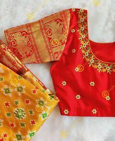 Cutwork Blouse Designs, Simple Blouse Designs, Embroidery Neck Designs, Stylish Blouse Design, Hand Work Embroidery, Bridal Blouse Designs, Simple Embroidery, Maggam Work Designs, Long Dress Design