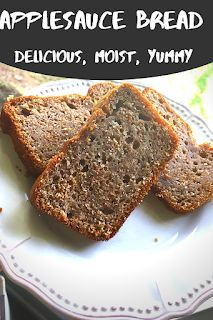 Forever Seeing Doubles: Applesauce Bread - Dessert Bread Recipes Fruit Bread, Apple Bread, Dessert Bread, Dessert Recipes, Apple Cake, Cake Recipes, Quick Bread Recipes, Cooking Recipes, Breads