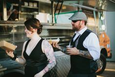 Short Leash Hot Dogs! Non-traditional Wedding Catering. Food Truck. Images by @GALAXIE ANDREWS