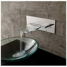 TiPVD Finish Widespread Waterfall Bathroom Sink Faucet Pinterest - Bathroom sinks and fixtures