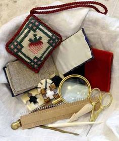 Putting together a period workbox for events: for your own use, a gift, an auction item