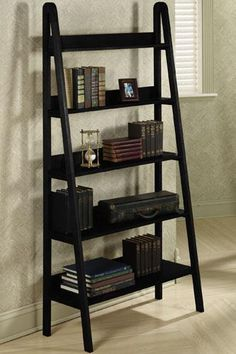 "Ladder 30""W Bookshelf - Ladder Bookcase -  Bookshelves -  Shelving Unit 