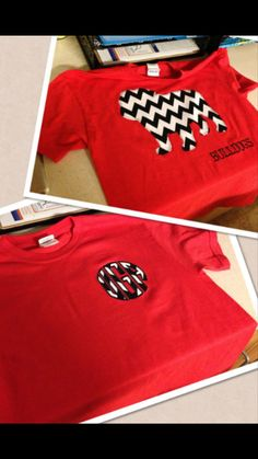 UGA/Georgia Bulldog Game Day applique tee by AlinieBeanies on Etsy, $23.00