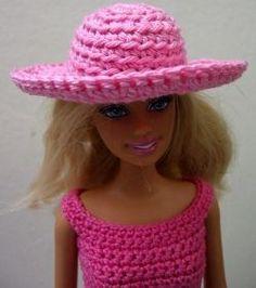 current Photo amigurumi doll hat Style how to crochet barbie doll hat (pattern) Crochet Barbie Patterns, Crochet Doll Dress, Barbie Clothes Patterns, Crochet Barbie Clothes, Doll Patterns, Clothing Patterns, Crochet Hats, Free Crochet, Crochet Summer