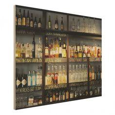 #Holz-Fotodruck - #Drink Lovers #Bar - #Wandbild Quer 3:4 #Holzbild #Regal #holzbilder #getränke
