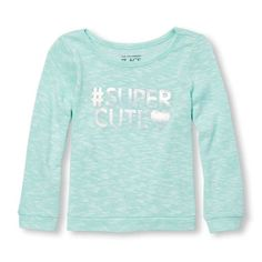 Toddler Girls Long Sleeve Metallic Graphic Lightweight Sweater-Knit Top