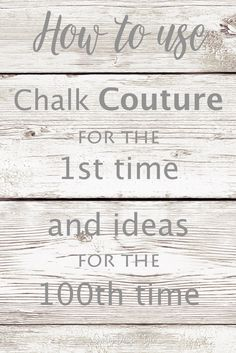 How to use Chalk Couture. If it's your first project ever or you're looking for project ideas to use these awesome transfers. Diy Arts And Crafts, Craft Stick Crafts, Diy Craft Projects, Project Ideas, Chalk It Up, Chalk Art, Chalk Painting, Chalk Crafts, Do It Yourself Furniture
