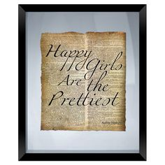 Happy Girls Framed Textual Art