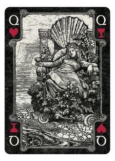 Queen of Hearts/Cups dark