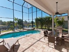 4/3 Villa Gulf Access,Pool+SpaVacation Rental in Cape Coral from @HomeAway! #vacation #rental #travel #homeaway