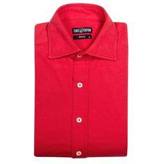 Chemise coupe classique en Jersey rouge - Café Coton #chemise #chemisejersey http://www.cafecoton.fr/jersey/11523-chemise-coupe-classique-en-jersey-rouge.html
