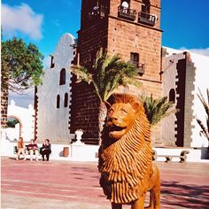 A photo I took about 2000. The picture is the Church of San Miguel, Teguise on the island of Lanzarote.