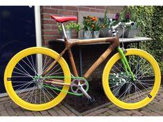 Aanbieding: Hippe Fixie/singlespeed bamboe fiets Een fiets van Bamboo! Kick!