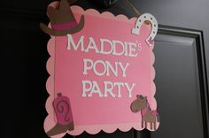 Cowgirl Door Sign Cowgirl Party Supplies Cowgirl by GiggleBees, $12.00