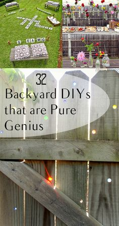 32 Backyard DIYs that are Pure Genius- great backyard party ideas, backyard projects and other fun backyard DIY ideas. (back yard diy) Backyard Projects, Outdoor Projects, Garden Projects, Diy Backyard Ideas, Patio Decorating Ideas On A Budget, Garden Tools, Diy Patio, Backyard Patio, Backyard Greenhouse