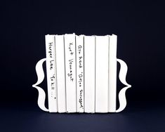 Metal bookends Brackets. These curly bracket bookends are functional and beautiful! Perfect housewarming gift for a book lover. Minimalist