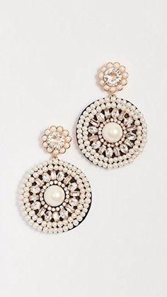 Luminous leather statement earrings by Kate Spade New York