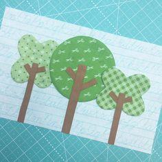 Trees!!!  #beeinmybonnet #beehappysewalong #beebasics #beebackgrounds #sewsimpleshapes #applique #appliquemadeeasy #iloverileyblake #fabricismyfun