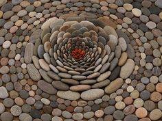 Stone art is peaceful