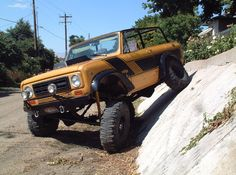 Scout Rallye showin' a little flex. Dodge Ram Diesel, Chevy Diesel Trucks, Chevrolet Trucks, Chevrolet Impala, Ford Trucks, 1957 Chevrolet, International Scout 2, International Harvester, Scout Truck