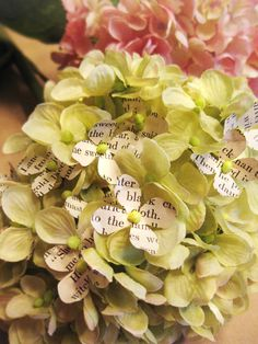 book page hydrangeas by Cathe of Just Something I made
