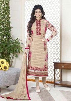 Ayesha Takia Beige #Churidar #Kameez Set