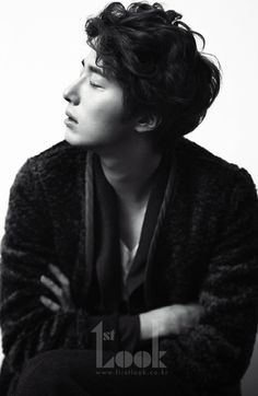 Jung Il-woo for 1st Look. Oh nuthin', just standin' around ...