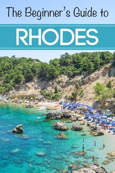 Looking for the best places to eat, play and stay in Rhodes? You're not going to want to miss this Beginner's Travel Guide to the Greek Island of Rhodes Greece Vacation, Greece Travel, Vacation Spots, Dream Vacations, Romantic Vacations, Romantic Travel, Mykonos, Santorini, Greek Cruise
