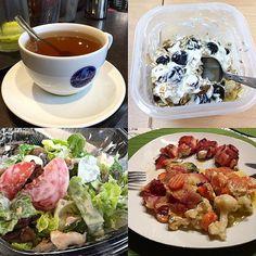 Tag 4... Das erste Mal so richtig Uni und unterwegs. Magerquark mit frischen Blaubeeren und Eiweiß-Müsli hatte ich bereits abends vorbereitet weil ich heute schon um halb 7 los musste. Absolut nicht meine Zeit  Zwischendurch gab es Pfefferminztee (zwei große Tassen) zum Mittag Salat mit Tomaten Champignons und Hühnchen. Ein paar Mozzarella-Kugeln haben sich auch rein geschummelt. Abends gab es dann den vorbereiteten Gemüseauflauf. Alles in allem ein guter Tag. Einzig und allen meiner…