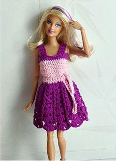 bonjour comme plusieurs abonnées m'ont demandé la robe courte de Barbie je vous la présente pour faire des heureuses et voilà donc la 1ére partie Fournitures -Coton rose (A) et violet (B) -Crochet N° 2 ou adéquat au coton Note Commencer toujours le rg...