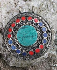 Beautiful Afghan pendant - look4treasures on Etsy, $32.95