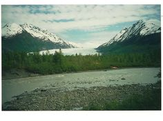 Glacier, view from the train, Talkeetna to Anchorage