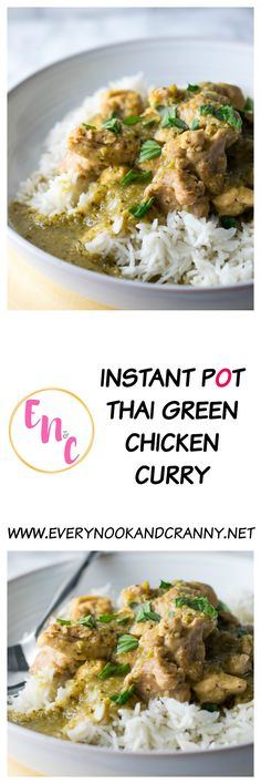 This is simply the best Thai green curry you'll ever have - and it's super easy to make in the Instant Pot, with the rice at the same time!