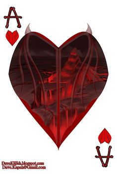 Playing Cards by David Kapah: The Ace of Hearts | more here: http://playingcardcollector.net/2015/06/18/playing-cards-by-david-kapah/