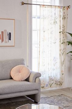 Garden Sprig Floral Curtain - Urban Outfitters