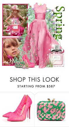 """Spring Scent"" by noralyn ❤ liked on Polyvore featuring beauty, Oscar de la Renta, Christian Louboutin, KOTUR, Christian Dior, Dior, missdior and springscent"