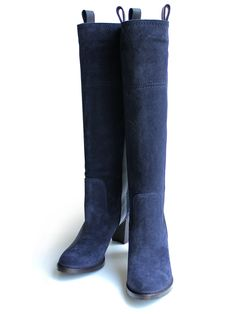 L'autre chose long boots NAVY
