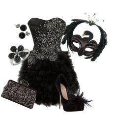 Halloween Masquerade - Black Swan