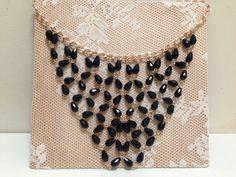 Necklaces.Black necklace by shpirulina on Etsy