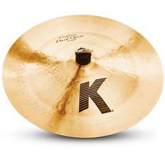 """Used Zildjian K0934 12/"""" K Custom Dark Splash Drumset Bronze Cymbal Mid Pitch"""